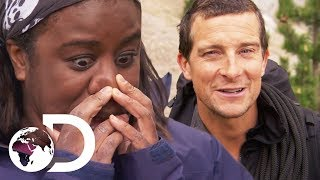 Two Wild Mice For Dinner With Uzo Aduba | Running Wild With Bear Grylls