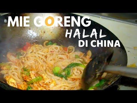 MIE GORENG HALAL DI CHINA || Wuhan Fried Noodles
