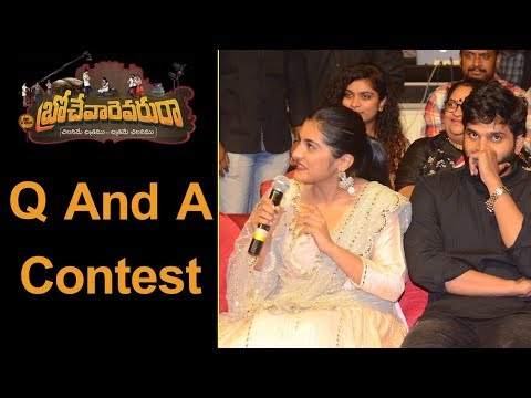 Q And A Contest At Brochevarevarura Pre Release Event