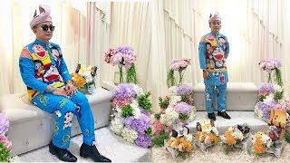 Viral Mempelai Pria Memakai Baju Pengantin Motif Doraemon, Awalnya Sang Istri Tak Izinkannya