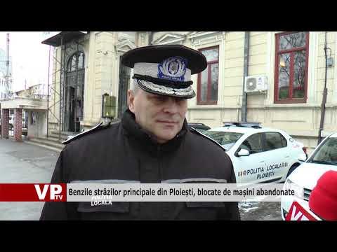 Benzile străzilor principale din Ploiești, blocate de mașini abandonate
