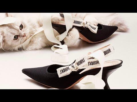 DIOR J ' ADIOR Ribbon Kitten heels UNBOXING | Fumi Desalu-Vold