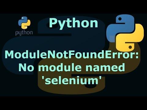 No module named Selenium (fix it in 10 seconds) - смотреть