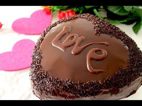 Tarta corazon de chocolate y trufa para san valentin sin lactosa