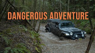 DANGEROUS Off-Road Adventure After Storm | Jeep Gladiator & Toyota 4Runner