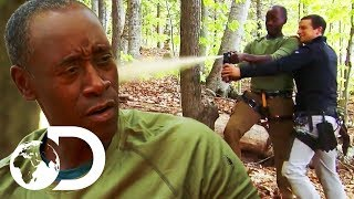Spicing Up An Eggshell And Worm Omelette... With Bear Spray! | Running Wild With Bear Grylls