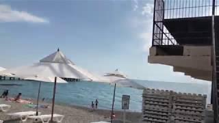 Пляжи, Чёрное море, Адлер, июнь 2018. Вики Сара