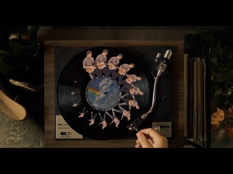 This video was created with 129 spinning records and no visual effects.