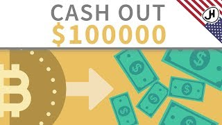 How can you cash out 100K from KRYPTO to FIAT?