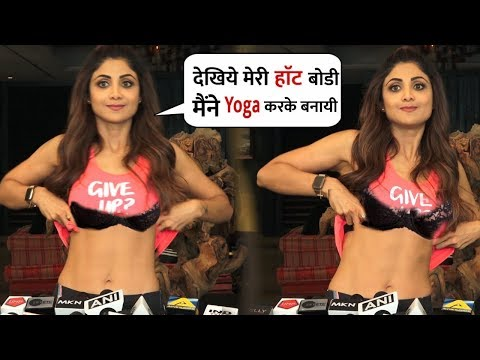 Shilpa Shetty Showing Abs B0DY In front Media on International Yoga Day   Healthy Tips and Tricks