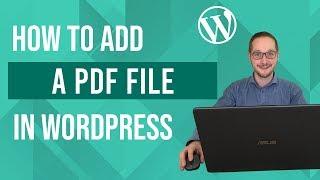 Een PDF toevoegen in WordPress Tutorial