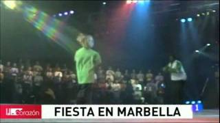 Aaron Carter en The Children for Peace Marbella