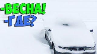 Весна пришла или затяжной снегопад в Витебской области откапываю Ситроен Ксантия