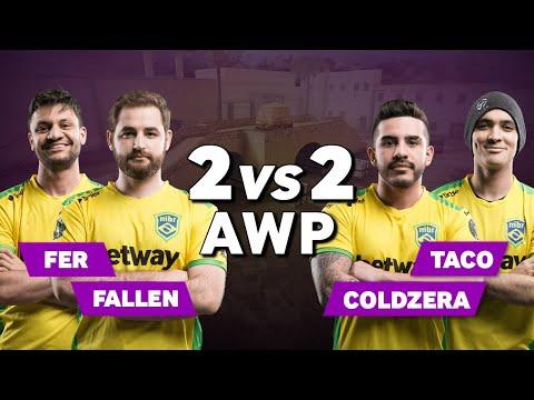 MiBR Fer and FalleN vs Coldzera and TACO - CS:GO AWP 2vs2