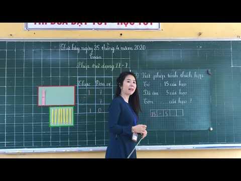 Môn Toán lớp 1, bài Phép trừ dạng 17 - 7 (GV Võ Thị Bích, Trường TH C Phú Mỹ)