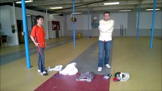 preview picture of video 'Worcester Fencing Club's Straitjacket Challenge'