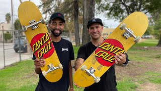 ALL NEW 3D CONCAVE! 7.75 Classic Dot Product Challenge with Maurio McCoy! | Santa Cruz Skateboards