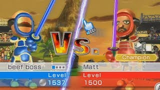 beef boss vs matt wii sports resort swordplay duel championship
