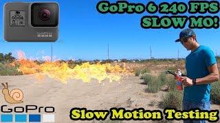 GoPro Hero 6 240fps Slow Motion Testing 1080/240