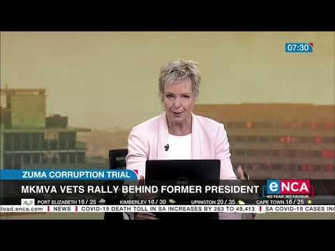 Zuma Corruption Trial MKMVA vets rally behind former president