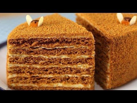 Медовый торт (Медовик) Старинный Рецепт  МЕДОВИКА . Как приготовить медовый торт.