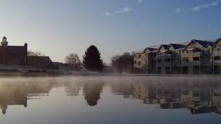 BUGS 20 EIS short vid of morning frost on pond