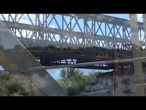Instalación del puente militar Acrow