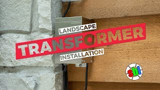 Landscape Lighting Transformer Install