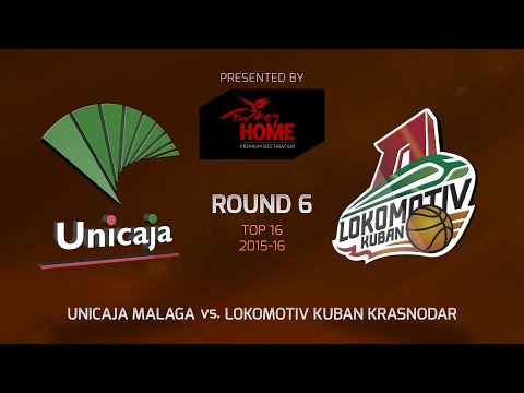 Highlights: Top 16, Round 6, Unicaja Malaga 64-82 Lokomotiv Kuban Krasnodar