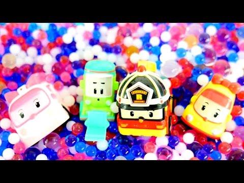 Видео для детей: Робокар Поли в бассейне с шариками ОРБИЗ!