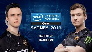 CS:GO - Fnatic vs. NiP [Overpass] Map 2 - Quarter Final #2 - IEM Sydney 2019