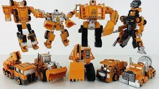 Машинки ТРАНСФОРМЕРЫ. Новый Трансформер Титан из пяти машинок. Игры для мальчиков.