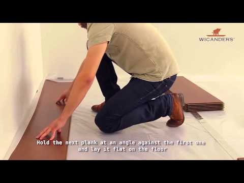 How to install Wicanders Floating Flooring 2G Lock System