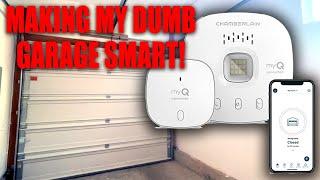 MUST HAVE FOR GARAGE OWNERS! myQ Chamberlain Smart Garage Door Opener. (Install & Demo)
