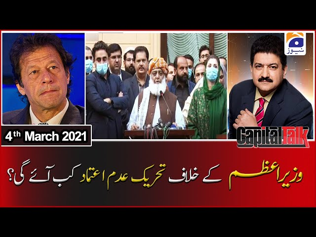 Capital Talk Hamid Mir Geo News 4 March 2021
