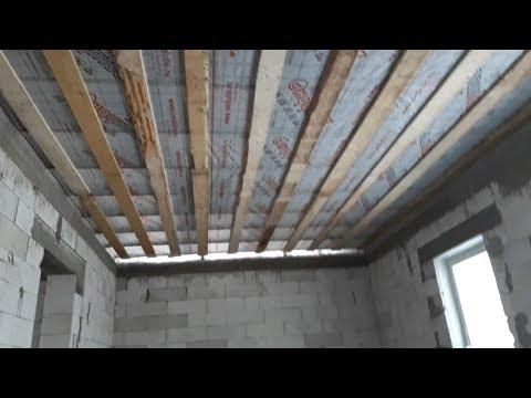 Гидроизоляция потолка. Подшивка обрешётки