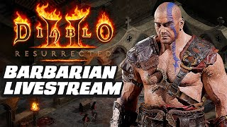 Diablo 2 Resurrected Barbarian Alpha Gameplay Livestream by GameSpot