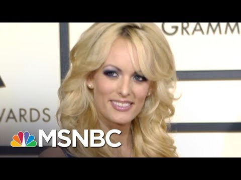 , title : 'Why Won't President Donald Trump Publicly Rebut Stormy Daniels? | AM Joy | MSNBC'