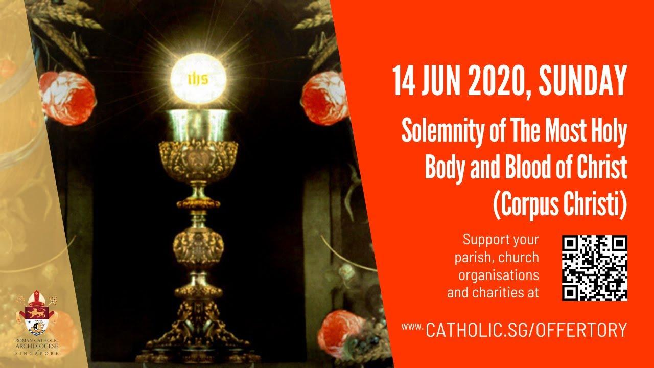 Catholic Sunday Mass Live Online 14th June 2020 - Sunday, Corpus Christi