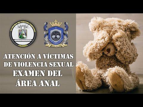 Examen del área anal. Atención a victimas de delitos de violencia sexual. Código fucsia.