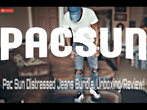 Fashion: Pac Sun Distressed Jeans BUNDLE Unboxing/Review & Try On!