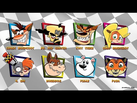 Characters Comparison Then And NowHybrider Compares Crash Team Racing Nitro-Fueled