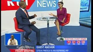 Starehe ODM Aspirant Steve Mbogo's parting shot on Friday Briefing