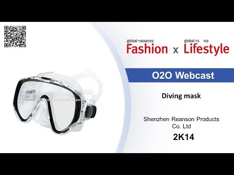 Wide-vision diving mask - Lifestyle show