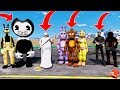ANIMATRONICS vs GRANNY vs FORTNITE vs BENDY! (GTA 5 Mods For Kids FNAF RedHatter)