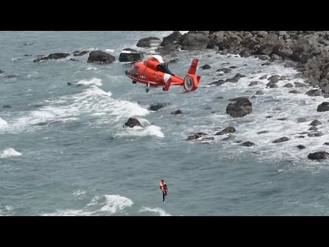 U.S. Coast Guard Helicopter Rescues Woman From Cliff Near Crescent City