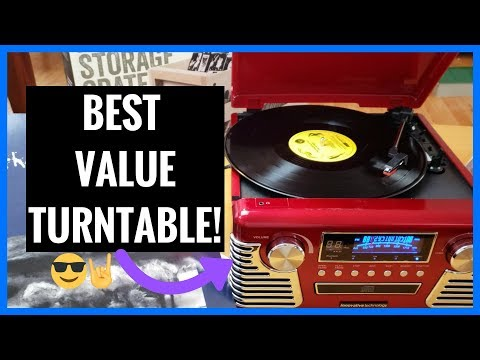 Retro Turntable   Best Value   Innovative Technology 50's Record Player   Unboxing   Demo   Review