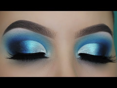 Blue Smokey Defined Cut Crease tutorial!