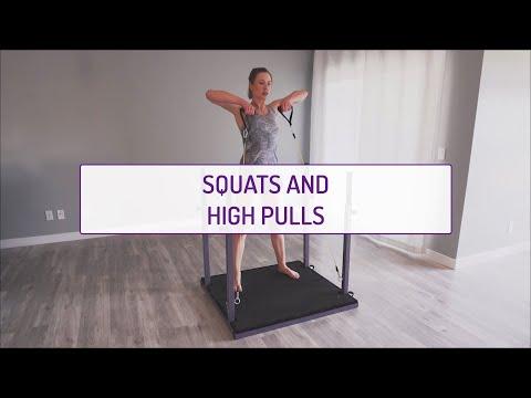 Squats and High Pulls