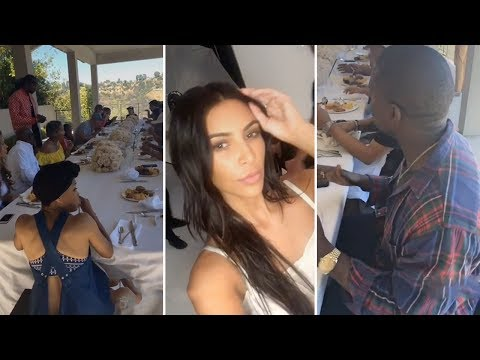 Kim Kardashian Throws Dinner Party For Kanye West & The Kardashian Family | FULL VIDEO